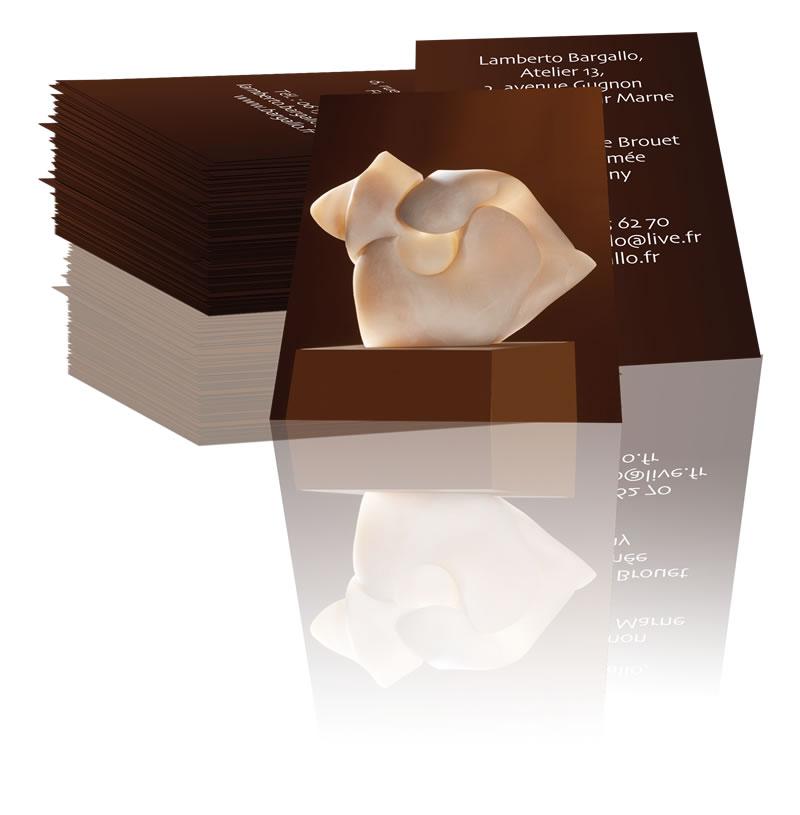 Pack Carte De Visite Rv Logo Sculpteur Lamberto Bargalo